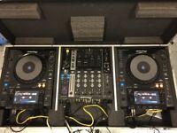 Turntables & Mixer Pioneer 2x CDJ 900 NXS + DJM 750 K + Flight Case