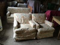 Free single bed, 2 armchairs and 2 sofas
