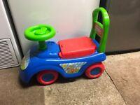 Children's ride on/push along car