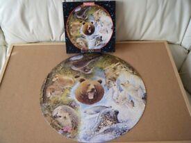 'Nordic Animals' 500 piece Jigsaw Puzzle (circular)