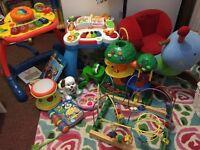 Massive Bundle of Toys VTech walker, Snail Baby Rocker More photos Inside NW6/Gunnesbury Station