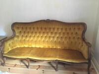 Antique / vintage Italian wooden sofa - rare