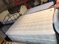 King size divan bed with draws and mattress