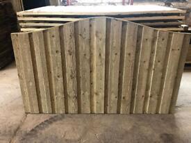 New style Vertilap fence panels