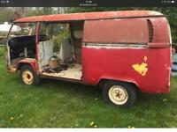 1971 vw panel van project loads of spares .