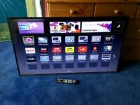PANASONIC 50 INCH SMART LED INTERNET TV WITH FREEVIEW HD BUILT IN.