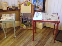 Up cycled tables