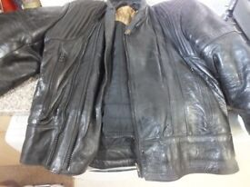 Frank Thomas Leather bike jacket