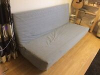 Sofa bed with cover and storage box (IKEA Beddinge)