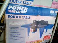 Power craft router table