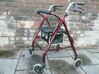 Roma Medical Lightweight 4 Wheel Rollator