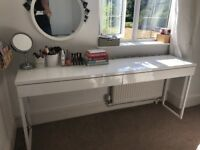 DISCONTINUED IKEA DRESSING TABLE DESK EXCELLENT CONDITION NOT MALM EXTRA LONG