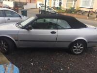 Saab convertible 2l has mot