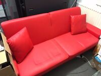 2x Used ed Leather Sofabeds