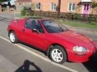 CRX DEL SOL 1.6 ESI, VERY LOW MILEAGE WITH FULL SERVICE HISTORY, 12months mot