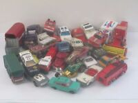 Mixed used toy model cars - approx 60