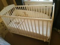 Mamas and Papas White Cot and Sprung Anti-Allergy Mattress - Offers are welcome