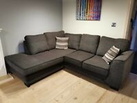 Corner Chaise Sofa & Footstool