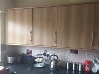 Kitchen cupboards, worktops, sink, appliances