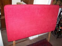 DOUBLE RED HEDBOARD