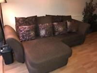 3-4seater sofa with integral chaise longe 2.52m length