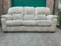 3 seater fabric sofa settee in good condition / free delivery