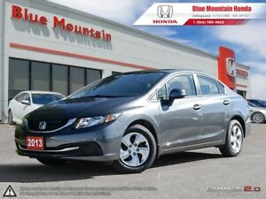 2013 Honda Civic LX Sedan Auto w Low Low KMS!