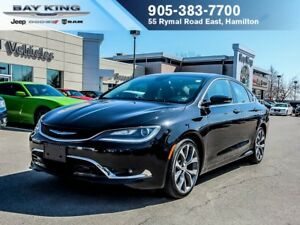 2016 Chrysler 200 C, PANO SUNROOF, RMT START, BACKUP CAM, BLUETO