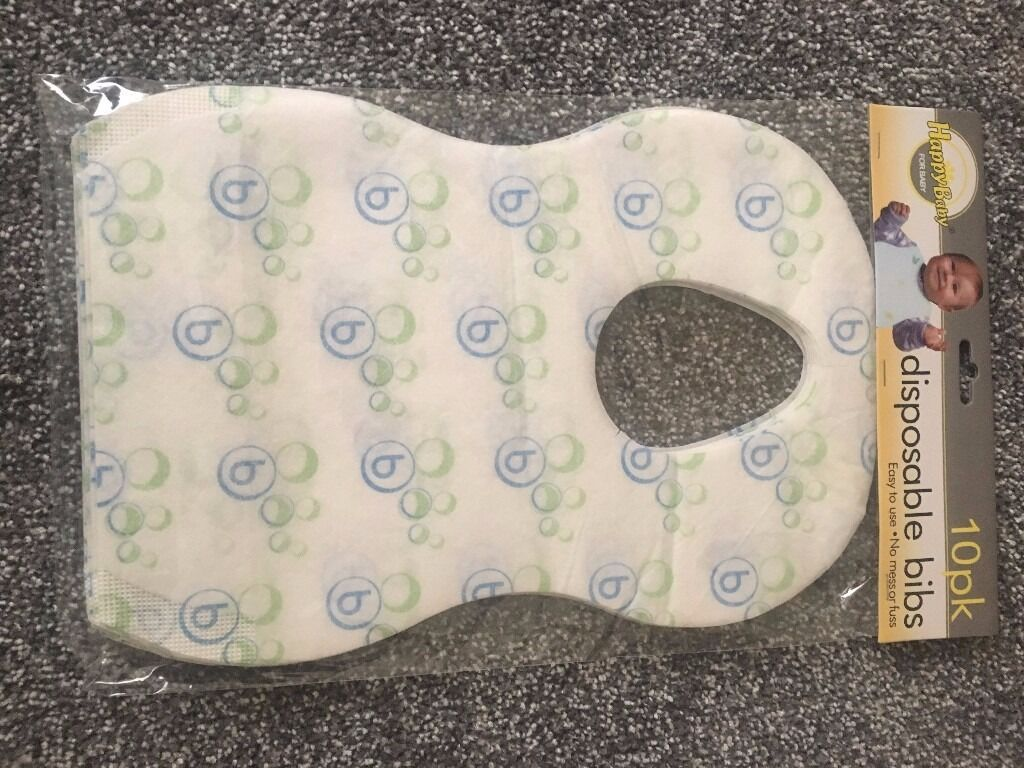 Baby/infant disposable bibs with pocket *pack of 10*