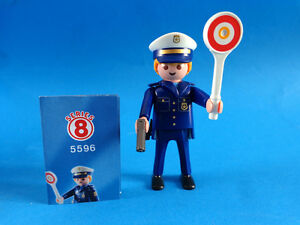 Playmobil-Figures-Serie-8-Policia-con-pistola-Policeman-Polizist-5596