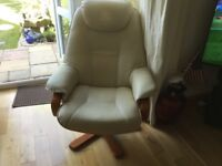 Cream recliner chair