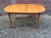 Pine Extending Dining Table.
