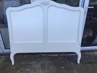 Double sized cream french style headboard