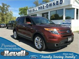 2015 Ford Explorer Limited 4WD...1-owner trade, Moonroof, Leathe