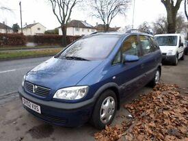 Vauxhall Zafira 1.6 i 16v Comfort 5dr (a/c) 2002 (02 REG) BLUE, BARGAIN, FULL MOT