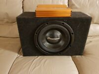 CAR ACTIVE SUBWOOFER PIONEER 1000 WATT 12 INCH BASS BOX WITH BUILD IN AMPLIFIER SUB WOOFER AMP