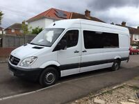 Mercedes sprinter xlwb 313 re mapped 8 seats surf race bmx van