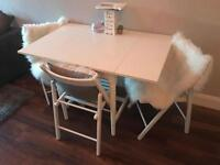 IKEA white Kitchen table and 3 chairs