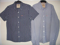 TWO HOLLISTER MENS SHIRTS. Size Medium.Both Excellent Condition