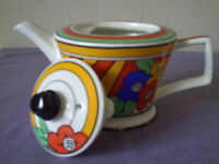 Clarice Cliff inspired teapot