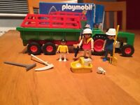 Playmobil Vintage Tractor and Trailor