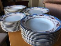 Floral Blue with gold detail china full set