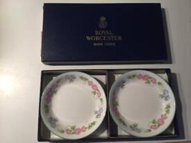 Royal Worcester Bone China Tray set/trinket dish set in original box