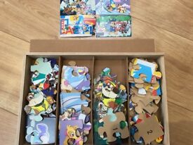 Paw patrol wooden puzzles in excellent condition