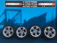 """BMW X1 E84 M DOUBLE SPOKE 355 18"""" ALLOY WHEELS WITH MATCHING TYRES 2011 ONWARDS"""