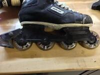Rollerblades & Wrist Guards Size 9 or 9.5