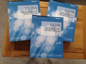 Microsoft Official Course Books and Computer Networking Book