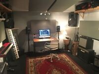 Professional music production studio / rehearsal room. Weekly daytime slots from £60 per month.