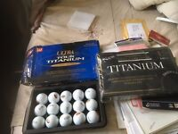 IDEAL FOR PRESENT: 2 BOXES OF GOLF BALLS DONNAY INTERNATIONAL AND WILSON ULTRA TOUR TITANIUM
