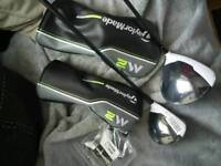 Brand new Taylormade 2017 M2 Driver and 3wood stiff project X black